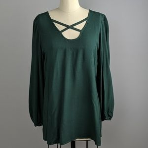 Soft surroundings long sleeve tunic in a size S